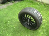 ONE,4 STUD,4 X 108 PCD,ZCV AFTER MARKET ALLOY,C/W 205/50/17 TYRE