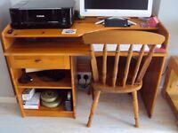 Desk & Chair in Antique Pine