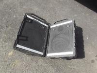 Portable Peavey passive wedge monitors 100W