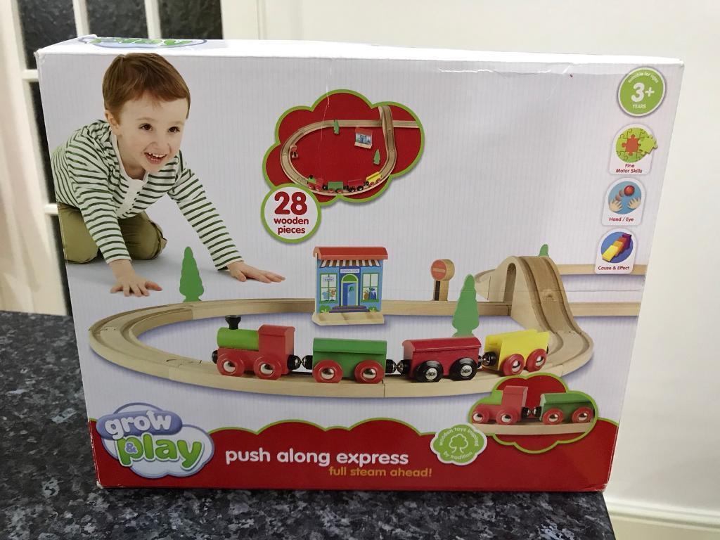 Grow & Play Wooden Train Set