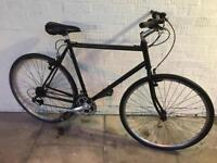 Black hybrid bike xvxc