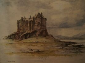 2 Pictures: Duart Castle, Ilse Of Mull And Colinton High Street