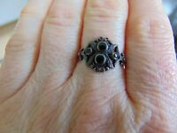 Black and silver dress ring