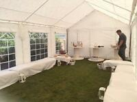 Marquee 100% PVC 4 x 8m includes ground bar set