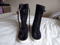 Ladies Boots by NEXT. Size 4 dark blue
