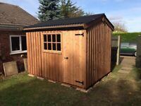 10x8 heritage style wooden garden shed (new)