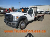 2012 Ford F-550 XL 4X4, GAS, DECK!!! -