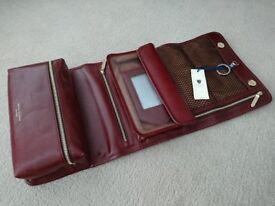 Men's designer leather wash bag gift accessory