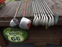 slazenger big ezee golf clubs & bag