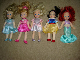 "JOBLOT ZAPF CREATION DISNEY PRINCESS 12"" SOFT BODY DOLLS SNOW WHITE ARIEL CINDERELLA SLEEPING BEAUTY"