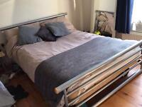 Super comfy IKEA bed with JAY-BE mattress
