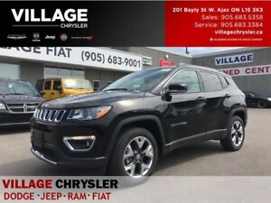 2017 Jeep Compass Limited|4x4|Leather|Nav|Remote|Backup Cam