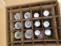 Set of 12 silver glass items (6 goblets and 6 glasses) BRAND NEW