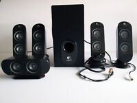 Surround Sound Speaker System Logitech X-530 5.1 For Multimedia/Gaming/Computer/Home Theatre £35