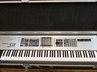 Roland Fantom X8 88 note workstation keyboard with SRX-02, SRX-04 and SRX-12 expansion boards