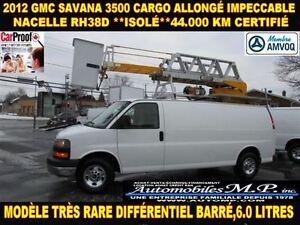 2012 GMC Savana 3500 CARGO ALLONGÉ NACELLE RH38D ISOLÉ 44.000 KM