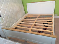 Lovely king size white wooden bed frame, great condition