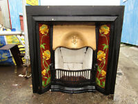 Cast Iron Art Nouveau Fireplace