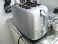 FREE *** WORKING SILVER 2 SLICE TOASTER