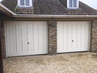Electric or manual garage doors