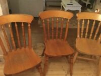 Chairs for sale 6 in total £10 each (ideal shabby chic project)