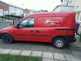 1.3 vauxhall combo van red ex royal mail