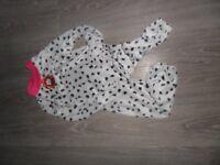 M&S dalmatian 4-6yrs onesi