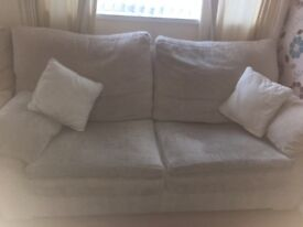 3 seater, 2 seater sofas chair and storage footstool