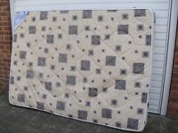 Double Mattress - 4 Ft 6 Inch - Soft To Medium Feel - Good Clean Condition