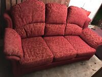 Orange 3 seater sofa FREE must collect