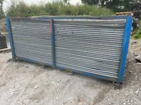 USED ~ 3.45 X 2M TEMPORARY SECURITY HERAS FENCING PANELS