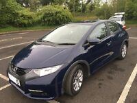 2013 High spec Honda Civic with only 22190 miles in excellent condition.