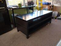 FREE TV bench, black-brown