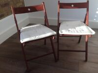 Ikea TERJE 2 folding chairs
