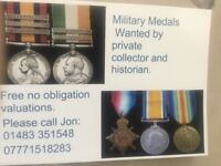 WANTED........Military Medals