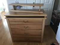 Mamas and Papas chest of drawers with matching shelve. Excellent condition