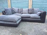 Black n grey sofa