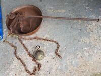 Antique Copper & iron weigh scale
