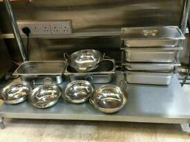 Restaurant steel dishes and extras