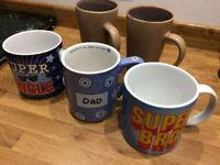 5x Large mugs / cups