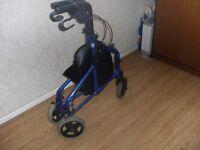 Three wheeler walking aid