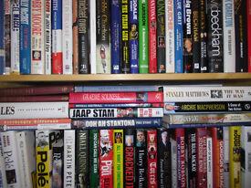 81 FOOTBALL BOOKS, VARIOUS PLAYERS, TEAMS ETC #2