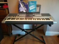 Yamaha PSR E403 Keyboard with stand, power cable, manual instructions - very good condition