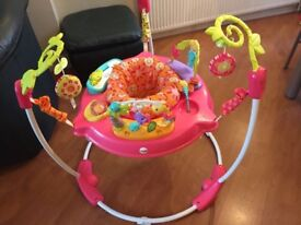 Pink Petals Jumperoo with additional mat, in original packaging, great condition