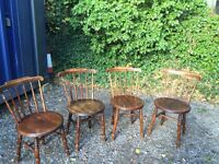 Antique Swedish ibex dining chairs , with label underneath seat very good condition.