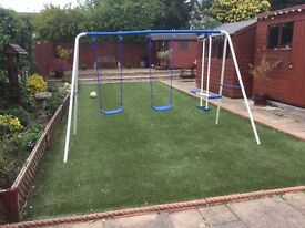 Kids swing and seesaw