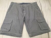 Men's shorts and fire trap jeans and Armani trousers