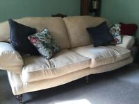"""Large cream sofa, excellent condition, very comfortable, 7ft 4"""" X 3ft 2"""""""