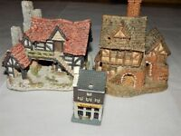Lot of 2 Miniature Cottages David Winter Plus One More