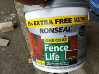 Ronseal one coat Fence paint red cedar